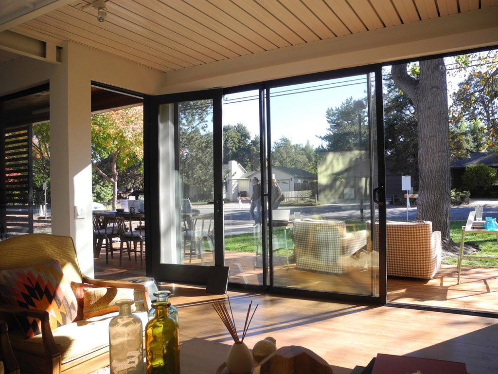 View from the inside to the patio in Connect Homes model