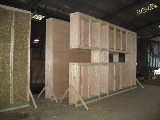 ModCell Straw Bale Assembly