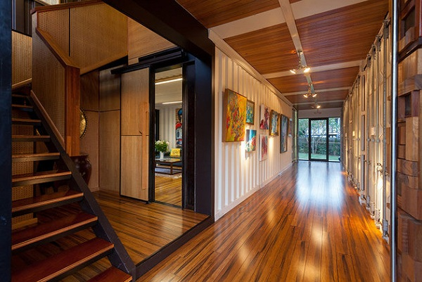 halls luxury home from shipping container
