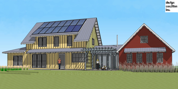 Root river house owners carefully plan a net zero project for Net zero home designs