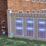 An Innovative S.A.F.E. Fencing System With a Solar Panels Built Right Into it