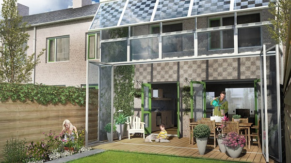Solar Skin competition house- outdoor living